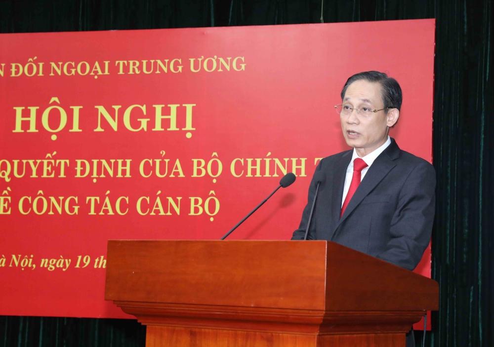 Tân Trưởng Ban Đối ngoại Trung ương Lê Hoài Trung phát biểu nhận nhiệm vụ