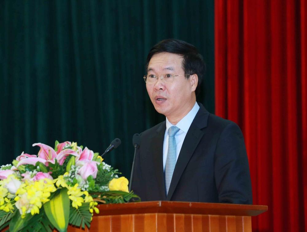 Thường trực Ban Bí thư Võ Văn Thưởng phát biểu tại buổi lễ
