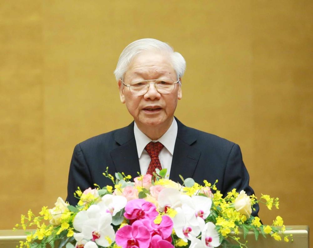 Tổng Bí thư Nguyễn Phú Trọng phát biểu chỉ đạo tại hội nghị