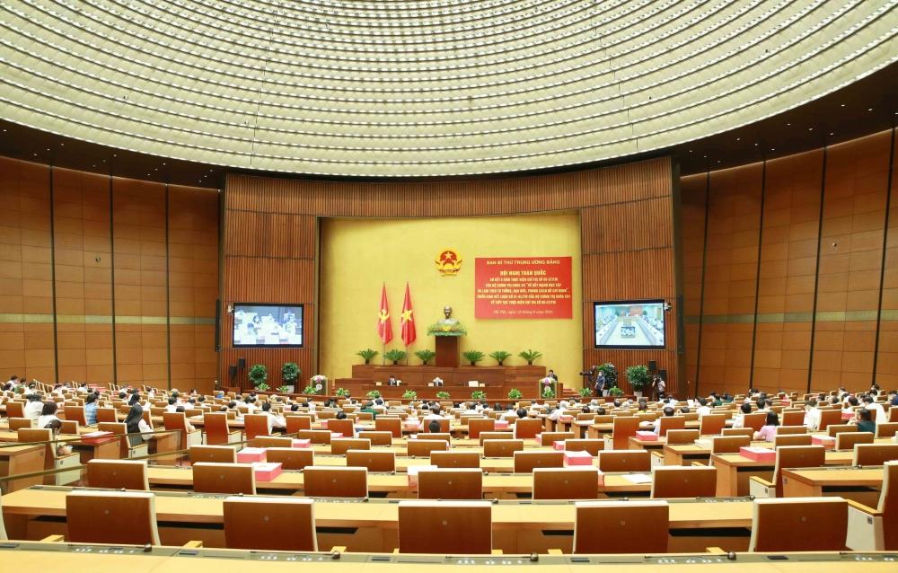 """Toàn cảnh hội nghị Tổng kết thực hiện Chỉ thị số 05-CT/TW """"Về đẩy mạnh học tập và làm theo tư tưởng, đạo đức, phong cách Hồ Chí Minh"""""""
