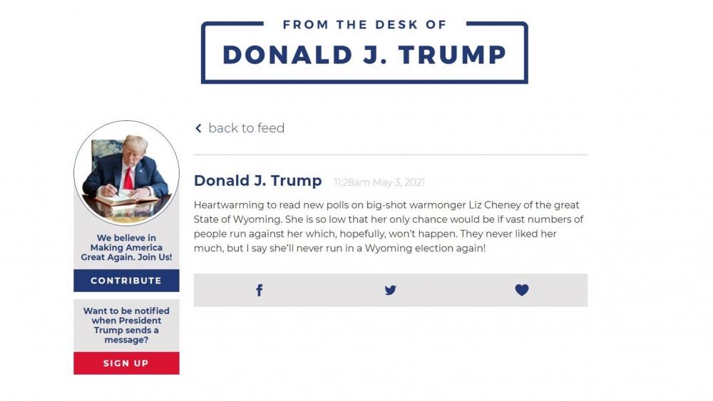 """Cự ông chủ Nhà Trắng được đồn đoán là sẽ trở lại với cộng đồng mạng xã hội sau khi đóng cửa """"The Dest Of Donald J.Trump"""""""