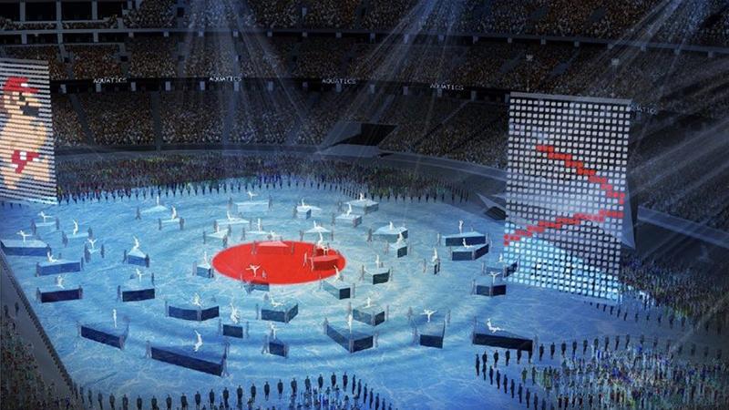Hình ảnh 3D của lễ khai mạc Thế vận hội Mùa hè 2020 dự kiến sẽ diễn ra tối nay