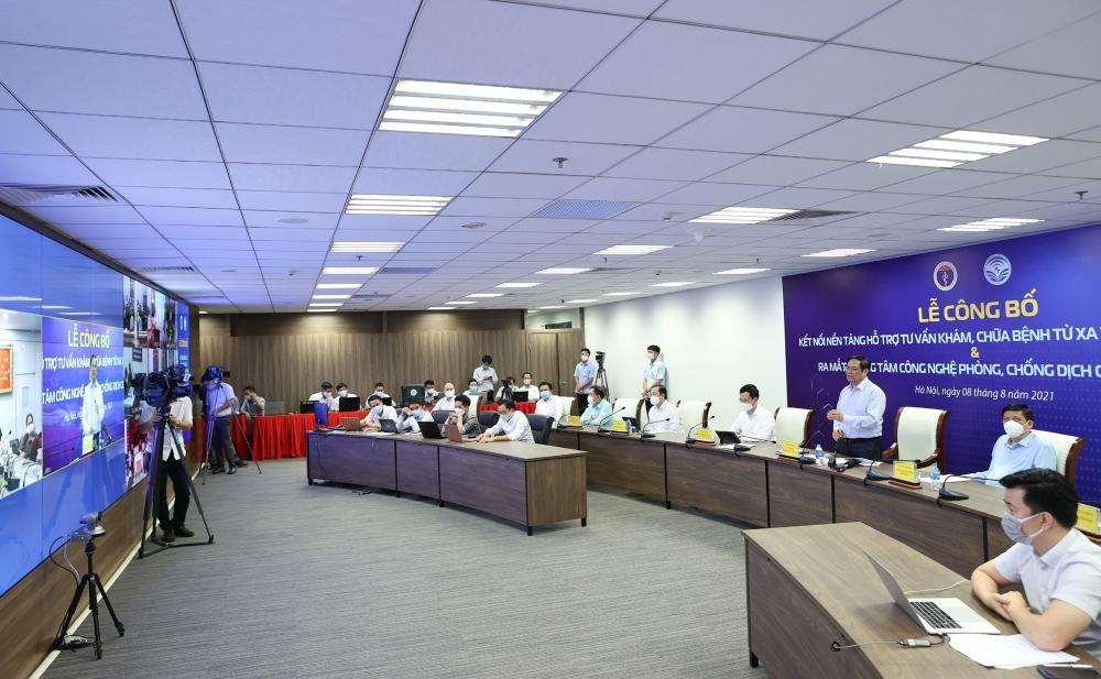 Toàn cảnh buổi lễ ra mắt Trung tâm công nghệ phòng, chống dịch COVID-19 quốc gia
