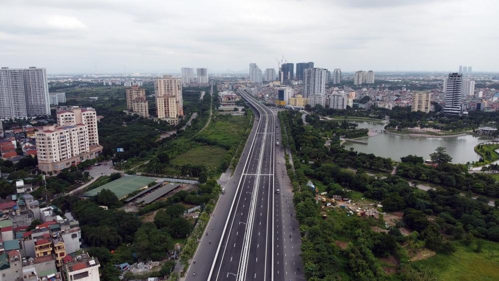 Hà Nội cấm các phương tiện lưu thông để hoàn thiện kết nối giao thông giữa đường vành đai 3 trên cao với Phạm Văn Đồng