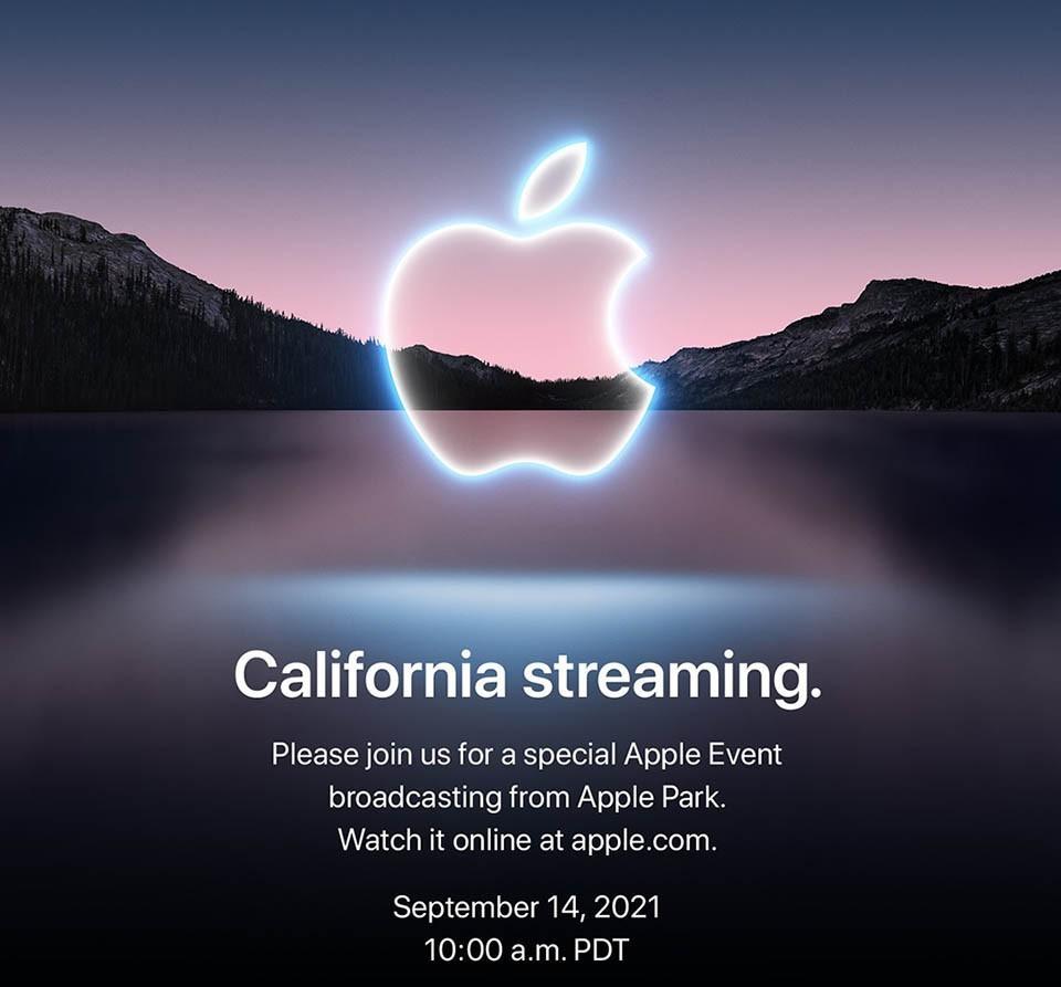 Thư mời sự kiện ra mắt iPhone 13 từ Apple