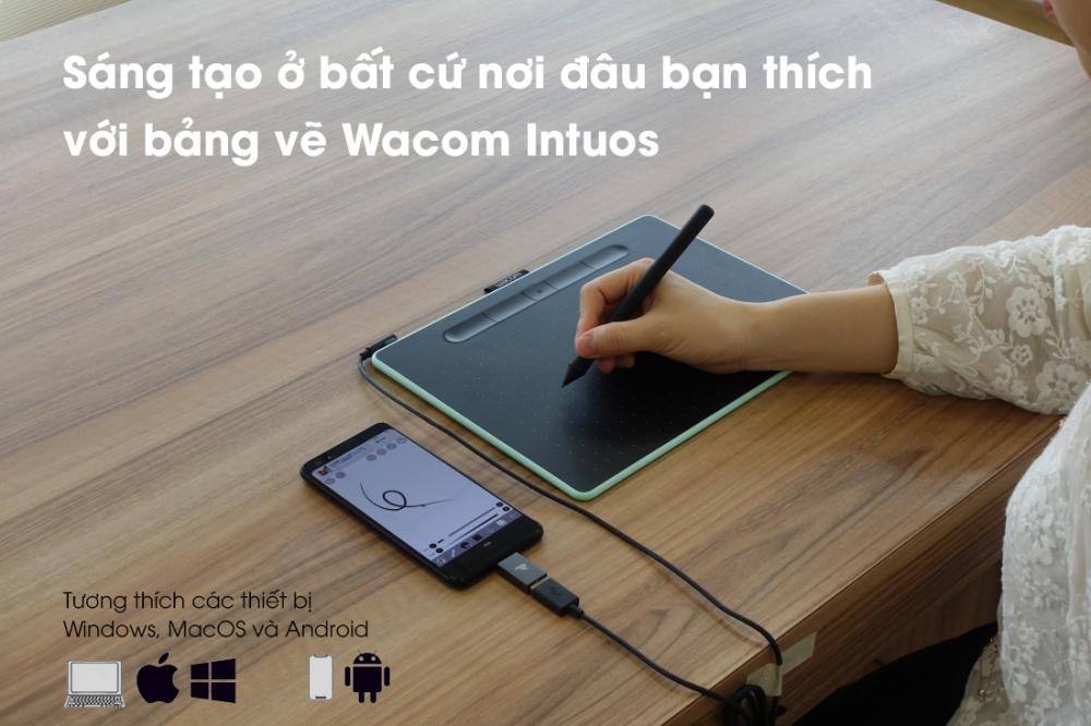 Thỏa sức sáng tạo với bảng vẽ điện tử Wacom.