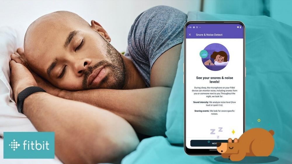 Tính năng Snore & Noise Detect của Fitbit (ảnh minh họa).