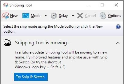 Công cụ Snipping Tool