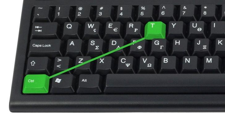 Phím tắt mở Tab mới trong trình duyệt