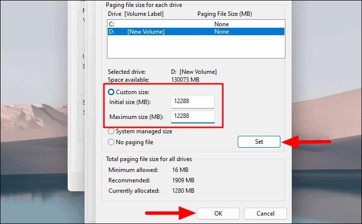 Tăng thêm RAM ảo cho máy tính window11