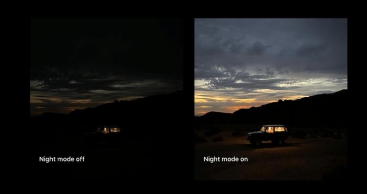 Sử dụng Chế độ ban đêm