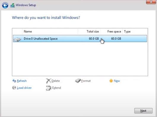 Chia phân vùng ổ cứng cài đặt windows 11