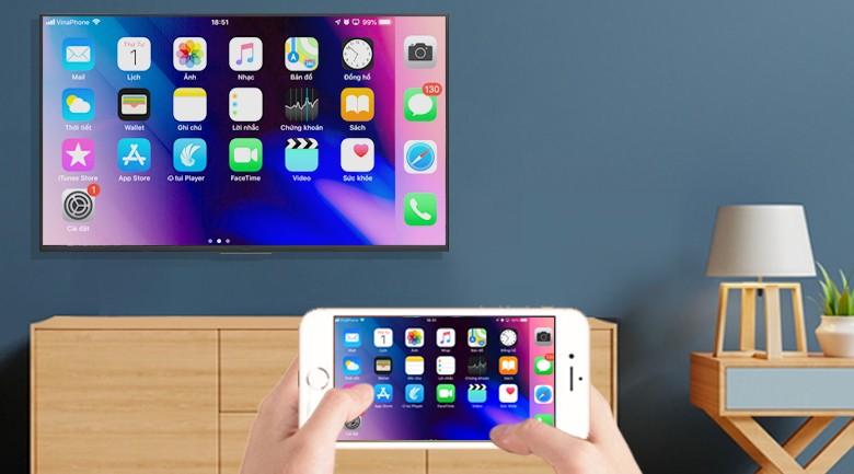Cách chiếu màn hình điện thoại lên tivi qua kết nối không dây