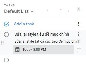 Thêm tác vụ trong Google Tasks