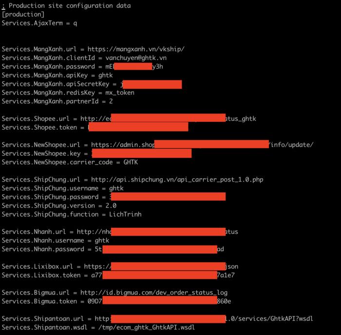 Hình ảnh mã nguồn GHTK