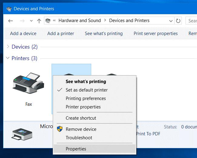 Sử dụng Chẩn đoán của Máy in – Printer's Diagnostics