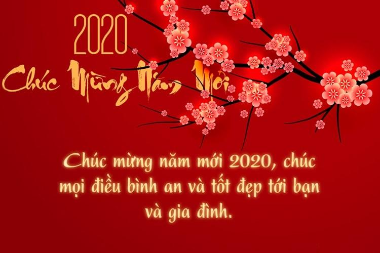Chúc mừng năm mới 2020, chúc mọi điều bình an và tốt đẹp tới bạn và gia đình