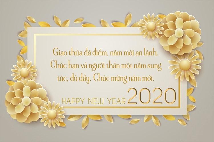 Giao thừa đã điểm, năm mới an lành. Chúc bạn và người thân một năm sung túc, đủ đầy. Chúc mừng năm mới 2020